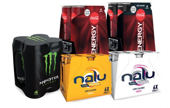 Energydrink, Nalu, Monster, Coca-Cola, energy, boost, assortiment, spar.be