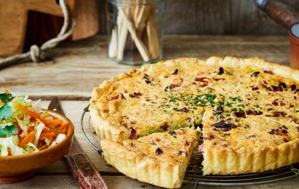 Quiche, Spek, prei, Winter, Herfst, spar.be