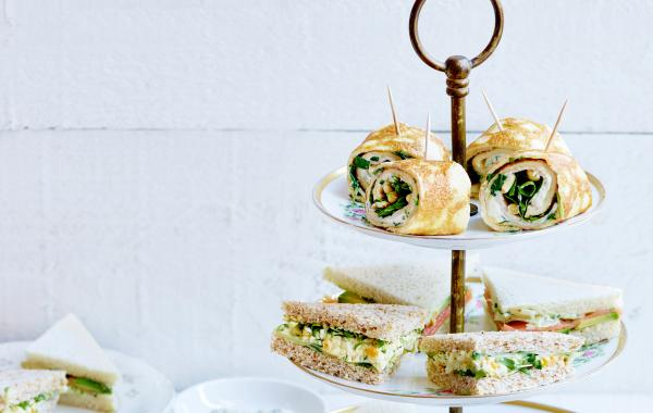 spar.be, high tea, sandwiches, concombre, salade aux œufs, Supermarché