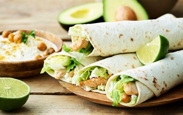 Tortilla's, Mexicaans, Lunch, Gevogelte, Avocado, Kikkererwten,wraps, spar.be