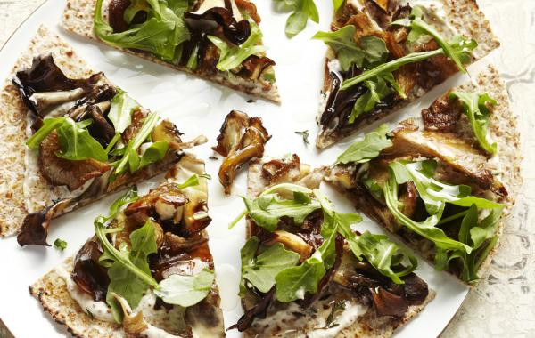 pizza, tortilla, wrap, paddenstoelen, champignons, rucola, look, spar.be