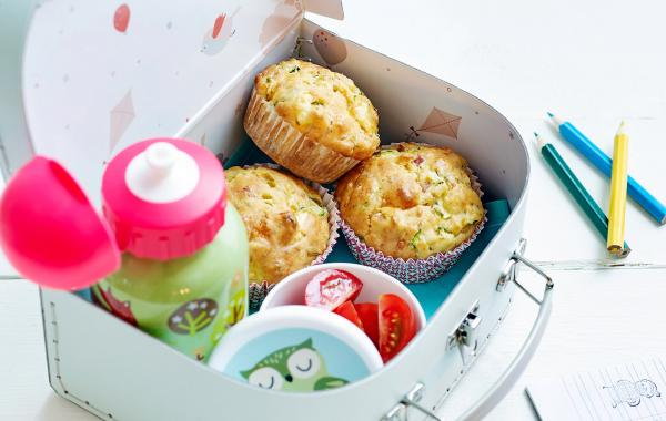 Muffins, lunch, kids, vieruurtje, Veggie, School, Schoollunch, spar.be