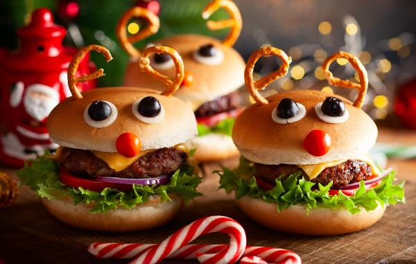 cheeseburger, kaas, hamburger, Kerstburger, Kerstmis, Kidsburger, kids, kidsproof, burger, spar.be