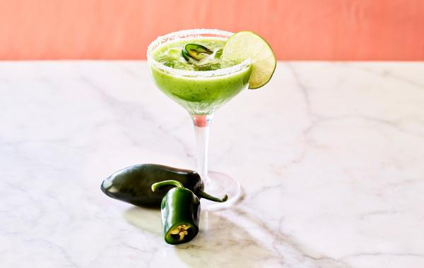 Margarita, komkommer, ijs, pittig, pikant, jalapeno, mexicaans, cocktail, zomer, fris, spar.be